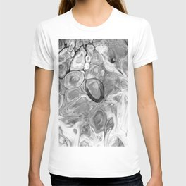 Smooth Abstract (Black and White) T-shirt