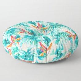 Tropical Paradise Pale Peach Floor Pillow