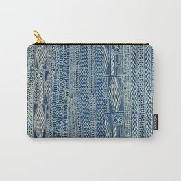 Ndop Cameroon West African Textile Print Carry-All Pouch