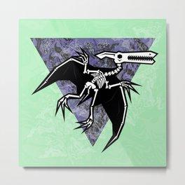 Pterodactyl Fossil Metal Print