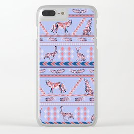 Geometric Howl Clear iPhone Case