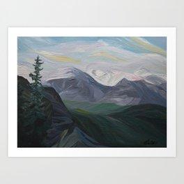 Mountain Landscape Painting: Banff, Alberta, Canada Art Print