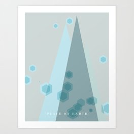Modern  Trees Color Blue Art Print