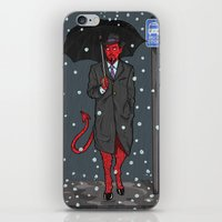 satan iPhone & iPod Skins featuring Hail, Satan by Christian Panic