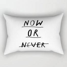 Now or Never Rectangular Pillow