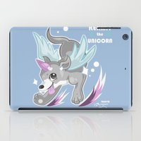 kermit iPad Cases featuring Fanart: Kermit The Unicorn by craziiwolf
