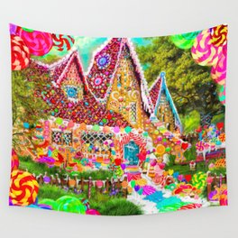 The Gingerbread House Wall Tapestry