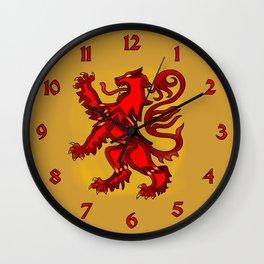 Scots Lion Knot Wall Clock