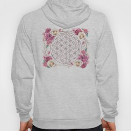 Flower of Life Rose Gold Garden Hoody