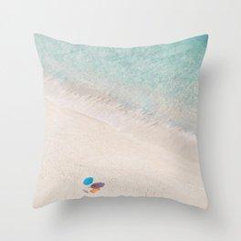 The Aqua Umbrella Throw Pillow