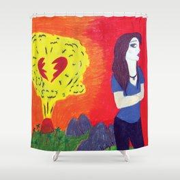 Heartbreak's Ashes Shower Curtain