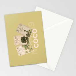 Mademoiselle Coco's desk Stationery Cards