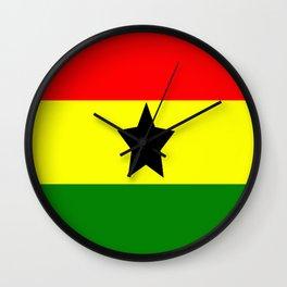 Flag of Ghana Wall Clock
