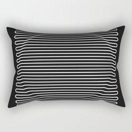 Circle over black Rectangular Pillow