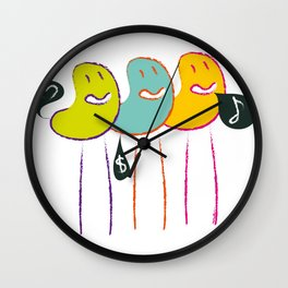 Love, money, music Wall Clock