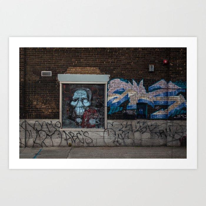 Spooky Street art Art Print