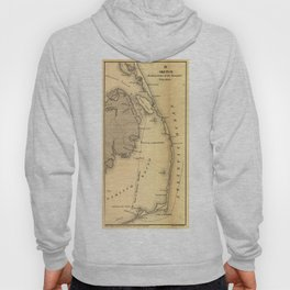Vintage Map of The Outer Banks (1862) Hoody