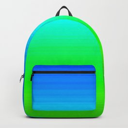 Blue Sky Green Grass Deconstructed (blue to green ombre gradient) Backpack