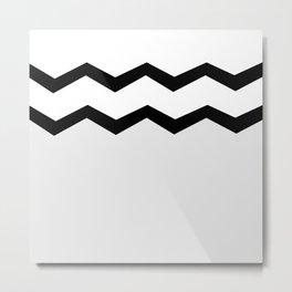 Geometric abstract - zigzag, gray, blak and white. Metal Print