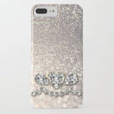 Diamonds and sparkles I- Silver elegant glitter design iPhone 7 Plus Slim Case