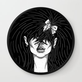 Girl With a Ribbon  Wall Clock