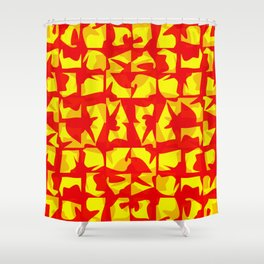 red shapes Shower Curtain