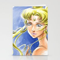sailormoon Stationery Cards featuring Princess Serenity by Keith Gutierrez