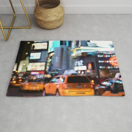 Yellow Cabs at Time Square in New York Rug