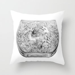 Two Lost Souls Swimming In A Fish Bowl Throw Pillow