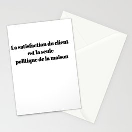 Customer Satisfaction Is The Only house policy Stationery Cards