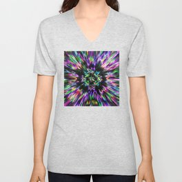 Colorful Tie Dye Abstract Unisex V-Neck