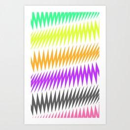 FUNKY STRIPE Art Print