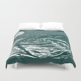 Dream Wave Zentangle Duvet Cover