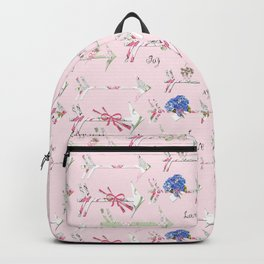Happiness is a bouquet of shabby chic Backpack