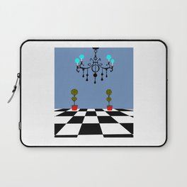 A Chandler with Checkered Tile and Topiaries Laptop Sleeve