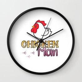 Chicken Mum/Mom Wall Clock