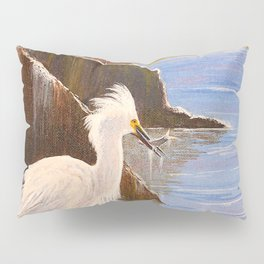 Snowy Egrets - The Expert Fisherman Pillow Sham