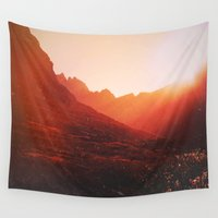 mars Wall Tapestries featuring Mars. by Polishpattern