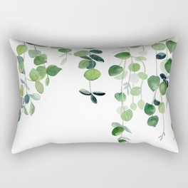 Eucalyptus Watercolor 2  Rectangular Pillow