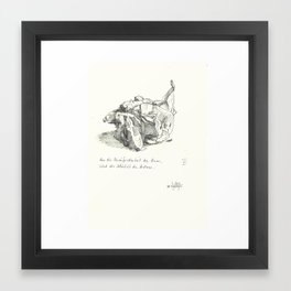what do you see 2 Framed Art Print