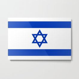 Flag of the State of Israel - High Quality Image Metal Print