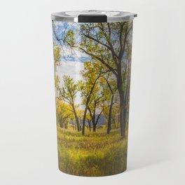 Cottonwoods, Theodore Roosevelt NP, ND 2 Travel Mug