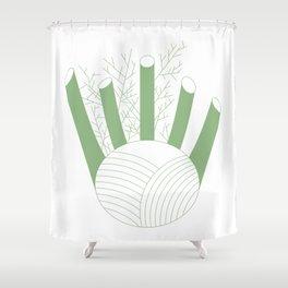 Green Fennel Shower Curtain
