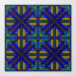 MOROCCAN ORNAMENT_in blue Canvas Print