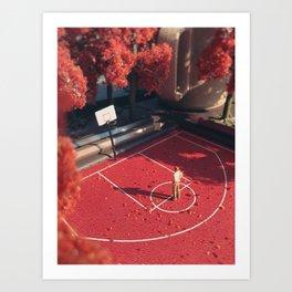 Sentimental Fall - Red Art Print