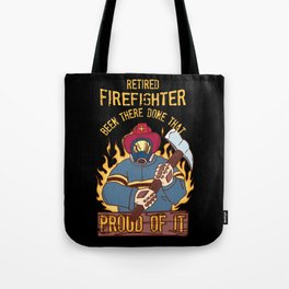 Retired Firefighter Proud Dad Grandfather Retirement Gift  Fire Department Tote Bag