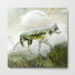 Wolf Mountain Looking Right Metal Print