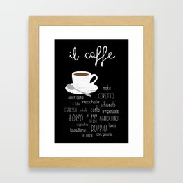 Coffee poster Framed Art Print
