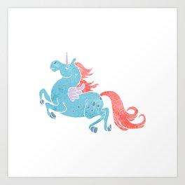 Unicorn Pegasus Art Print