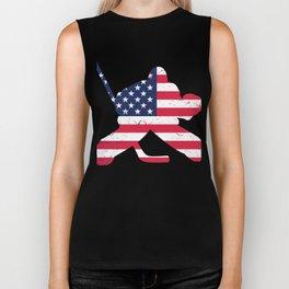 Perfect Shirt For Hockey Lover. Biker Tank